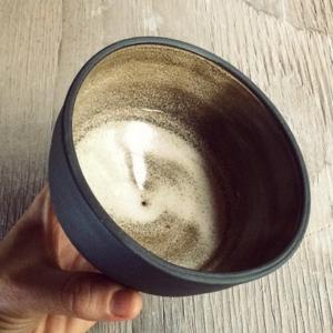 Hand Made Ceramic Black Bowl
