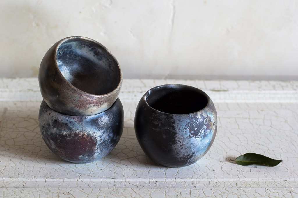 Seeds and Stone Pit fired ceramics Maui
